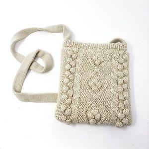 Vintage Inge Sport   Cream Stitched Shoulder Bag